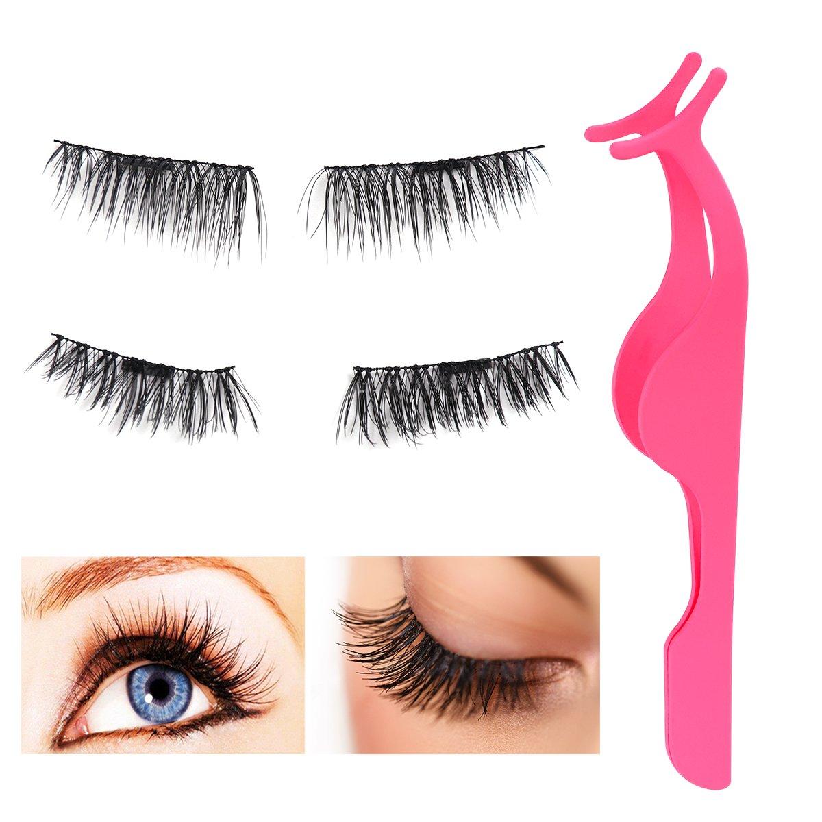 Frcolor Magnetic False Eyelashes and False Eyelashes Extension Applicator Tweezers