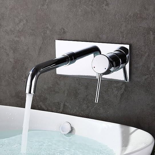 homelody robinet mural mitigeur à encastrer pour lavabo vasque à ... - Robinetterie Murale Salle De Bain