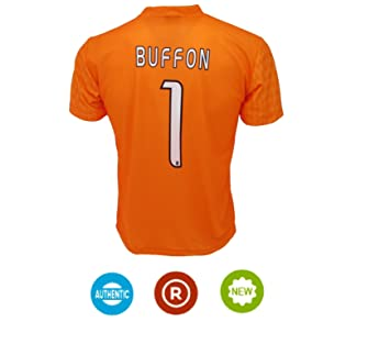 bd06fca8e74 2016 2017 Juventus FC Trikot 1 Gianluigi Buffon Home Goalkeeper Football  Soccer Jersey Kit In Orange