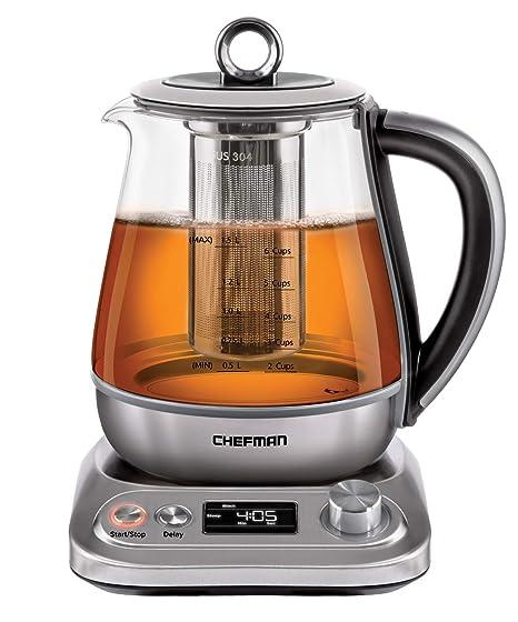 Amazon.com: Chefman PerfecTea - Hervidor eléctrico ...