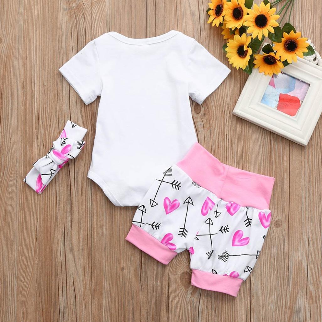 5cfb1fdcb Gaddrt 3Pcs Newborn Baby Girls Letter Arrow Print Romper Jumpsuit ...