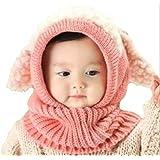 京都おかげさまで 選べるカラー 5色 ウサギちゃん ニット帽子 赤ちゃん ニット帽 ベビー & キッズ (ピンク)