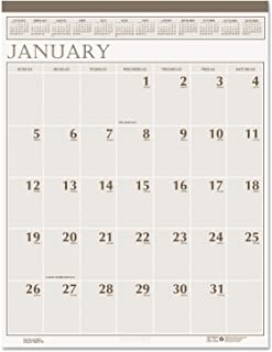 product image for HOD380 - House Of Doolittle Large Print Monthly Wall Calendar in Punched Leatherette Binding