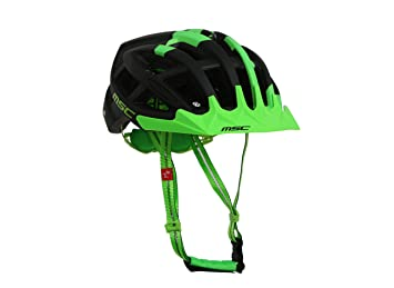 MSC Bikes HX100SMBKGN Casco de MTB, Negro/Verde, S/M (55cm