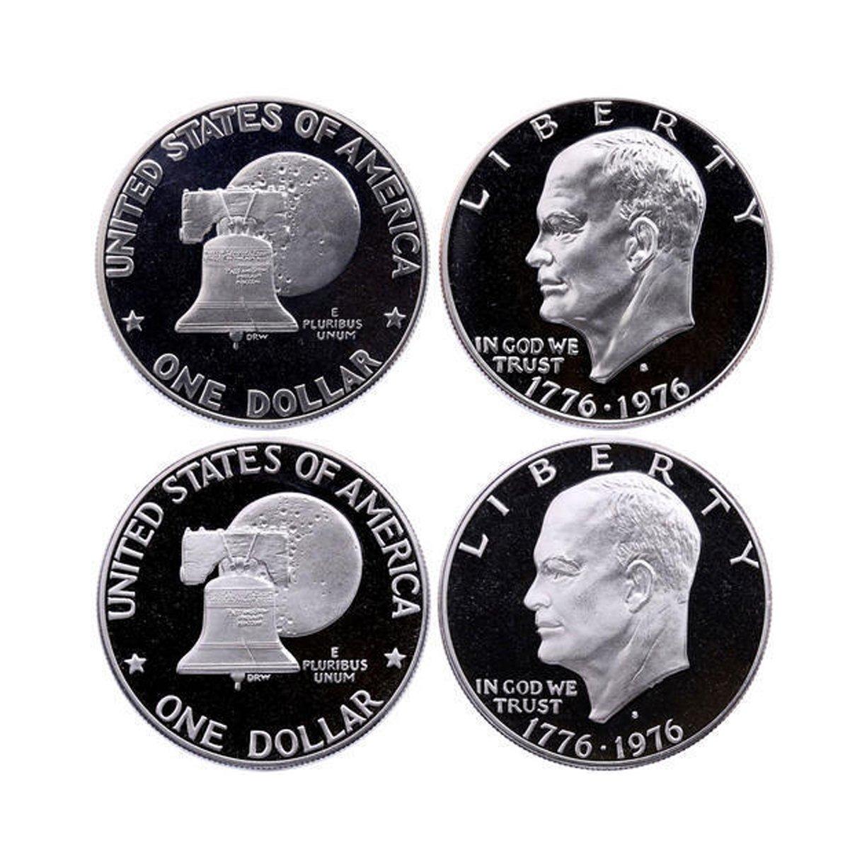 1976 S Eisenhower Dollar Type 2 Cameo Gem Proof
