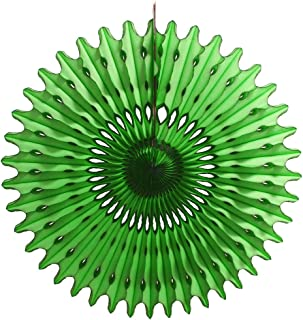 product image for 3-Pack 26 Inch Extra-Large Honeycomb Tissue Paper Party Fan Decoration (Light Green)