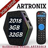 [3GB RAM 32GB ROM] ARTRONIX 2018 UPDATED VERSION NEWEST T95Z PLUS GOOGLE ANDROID 7.1 TV BOX OCTA-CORE 64 BITS AMLOGIC S912 4K ULTRA HD H.265 DUAL BAND WIFI 2.4GHz/5GHz 1000M LAN