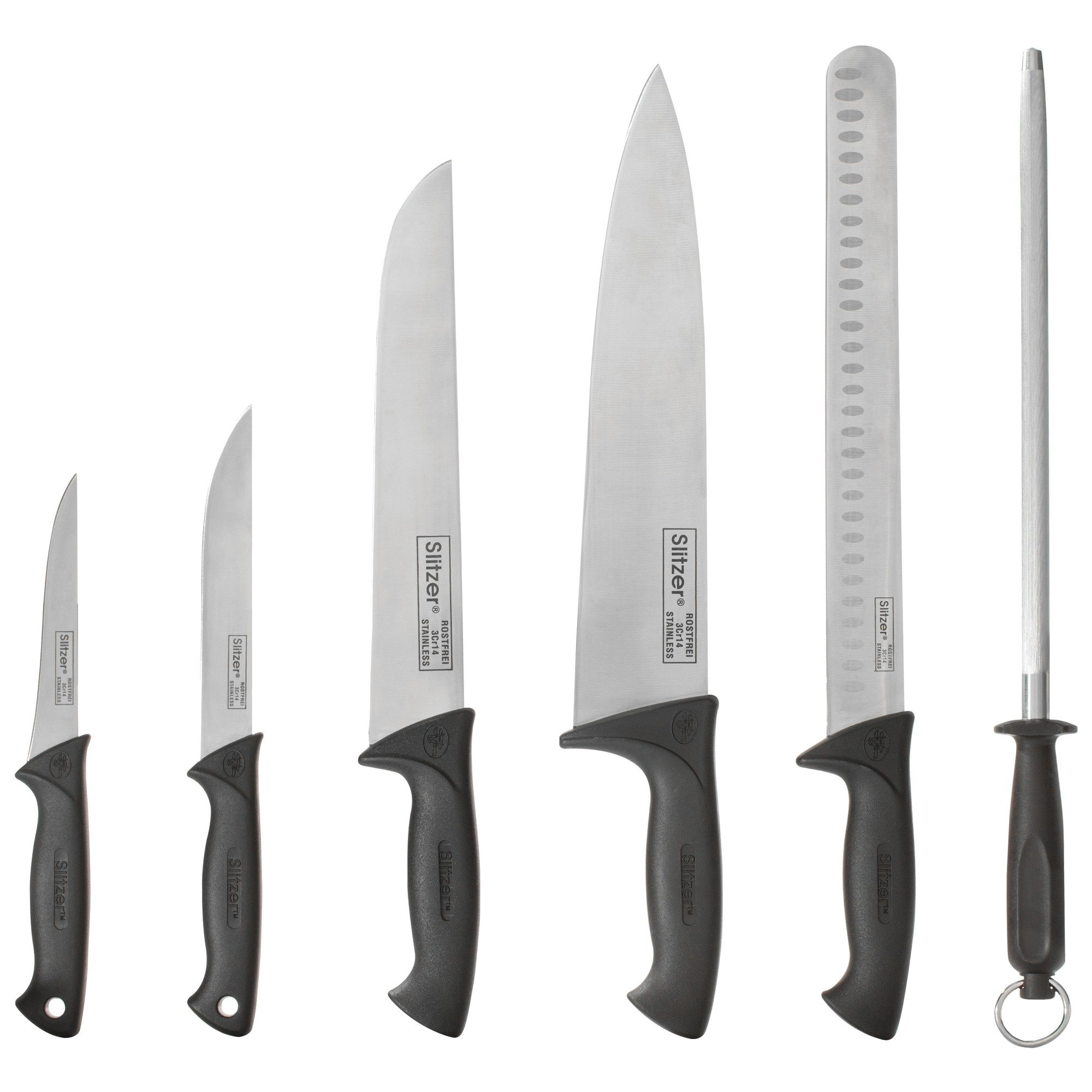Slitzer Germany 6 Piece Chef's Knife Set, Professional Grade Chef Knives In Convenient Carry Case by Slitzer Germany (Image #2)