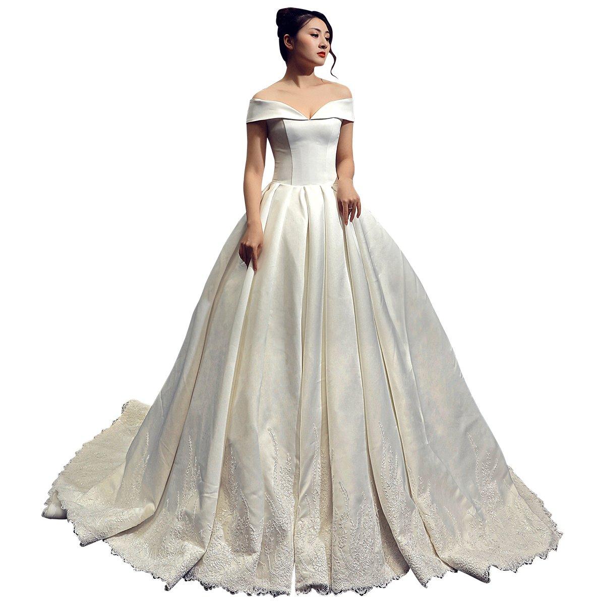 Erosebridal Retro Style Ball Gowns Wedding Dress Long Train