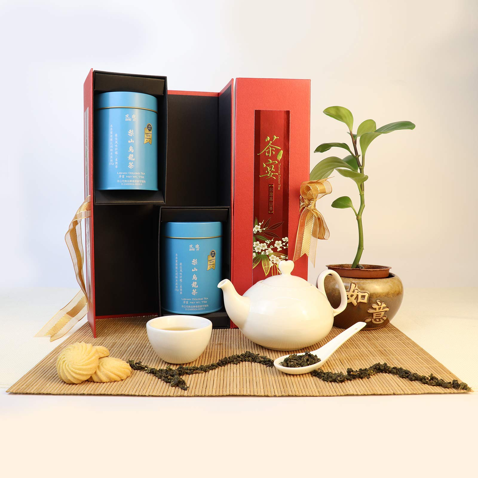 DING IN Lishan Oolong Tea Feast Straight Gift Box 75g/2cans by Ding In ltd. (Image #2)