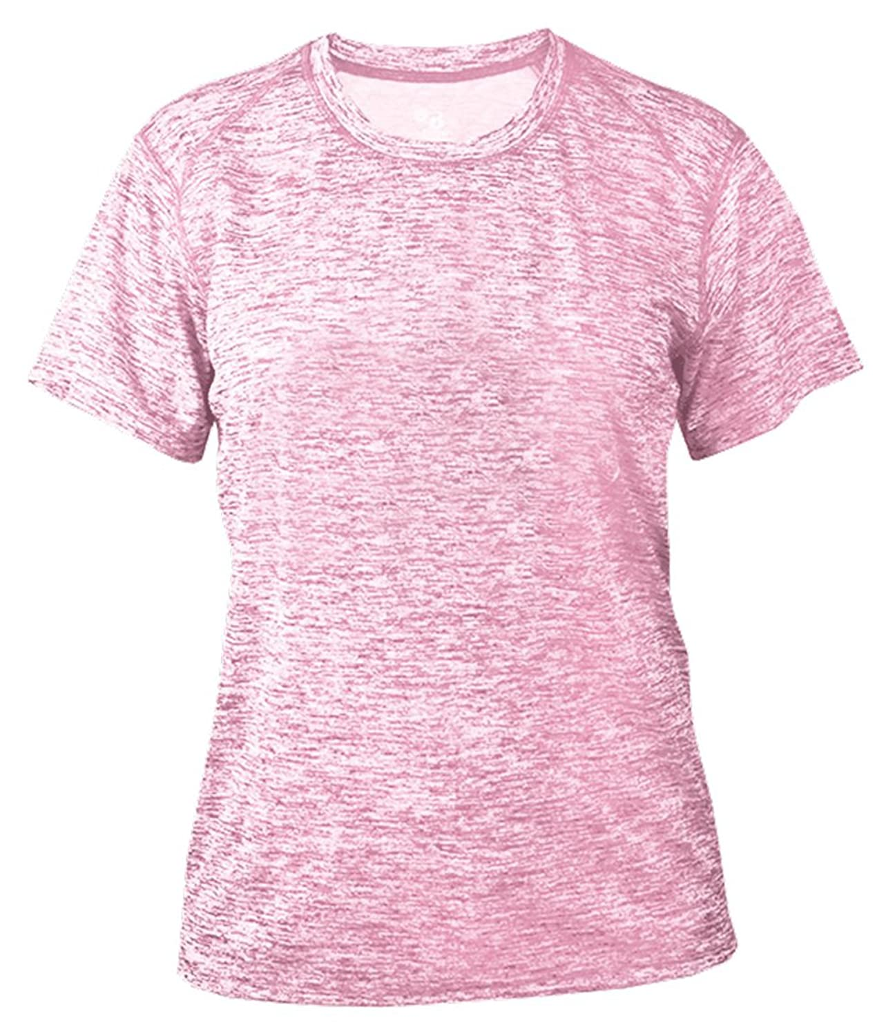 Badger Blend Ladies Polyester Moisture Tee_Pink
