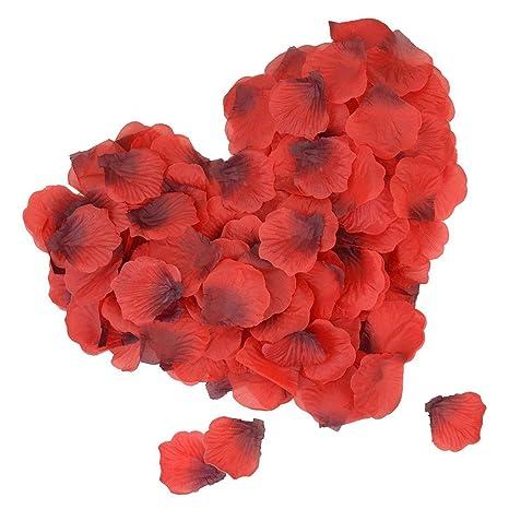 DigHealth 2000 Stück Rosenblätter, Rosenblüten für Hochzeit Party, Künstliche Rosenblätter für Valentinstag Romatische, Blüte