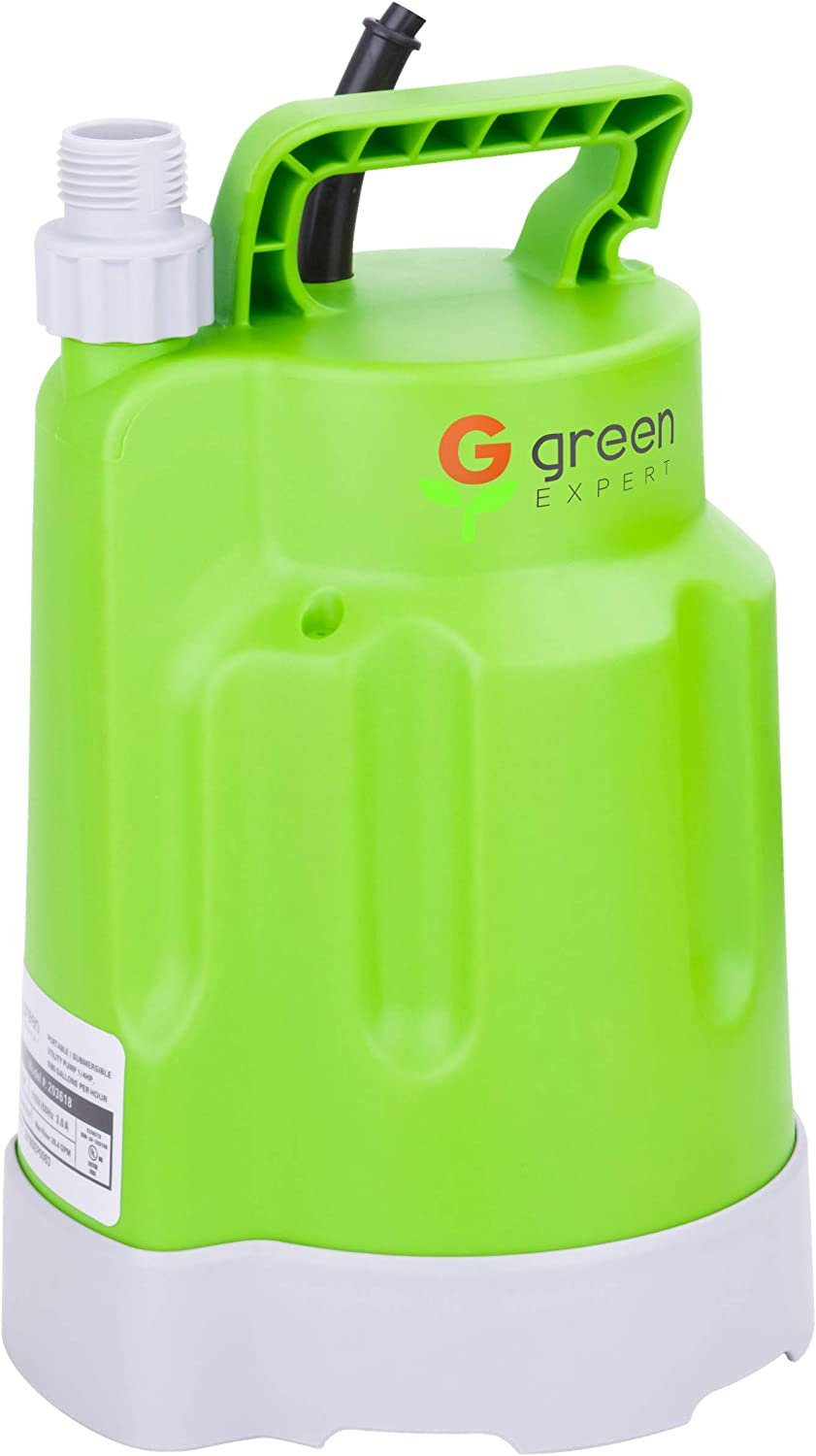 Green Expert 203618 1/4HP Submersible Utility Pump