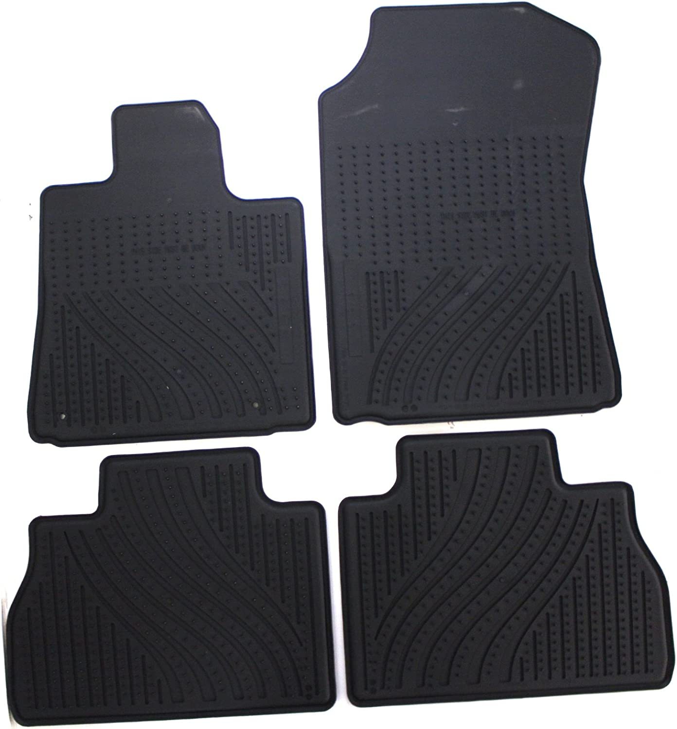 Set of 4 Black Genuine Toyota Accessories PT908-34101-02 Front and Rear All-Weather Floor Mat