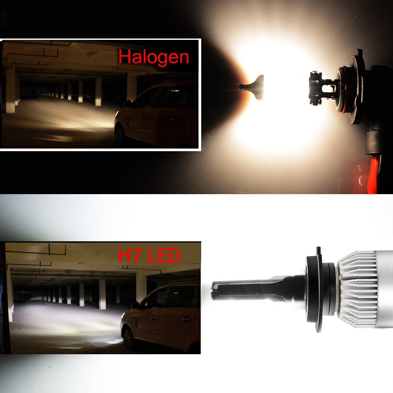 CNAutoLicht Pair For Chevy Chevrolet Malibu White LED Daytime Running Lights DRL Fog Lamp 2012 2013 2014 2015