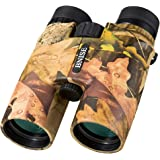 BNISE - 10x42 High Powered Magnification Binoculars - Bright and Clear Range of View - for Travel Bird, Watching Astronomy Sports and Wildlife -Comes with Case, Lens Caps, Strap and Warranty - Army