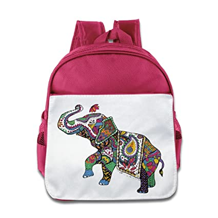 Lovely Baby Colorful India Treasure Elephant Kids Children Pink School Bag  Backpack For 1-6 3c08d2375ead1