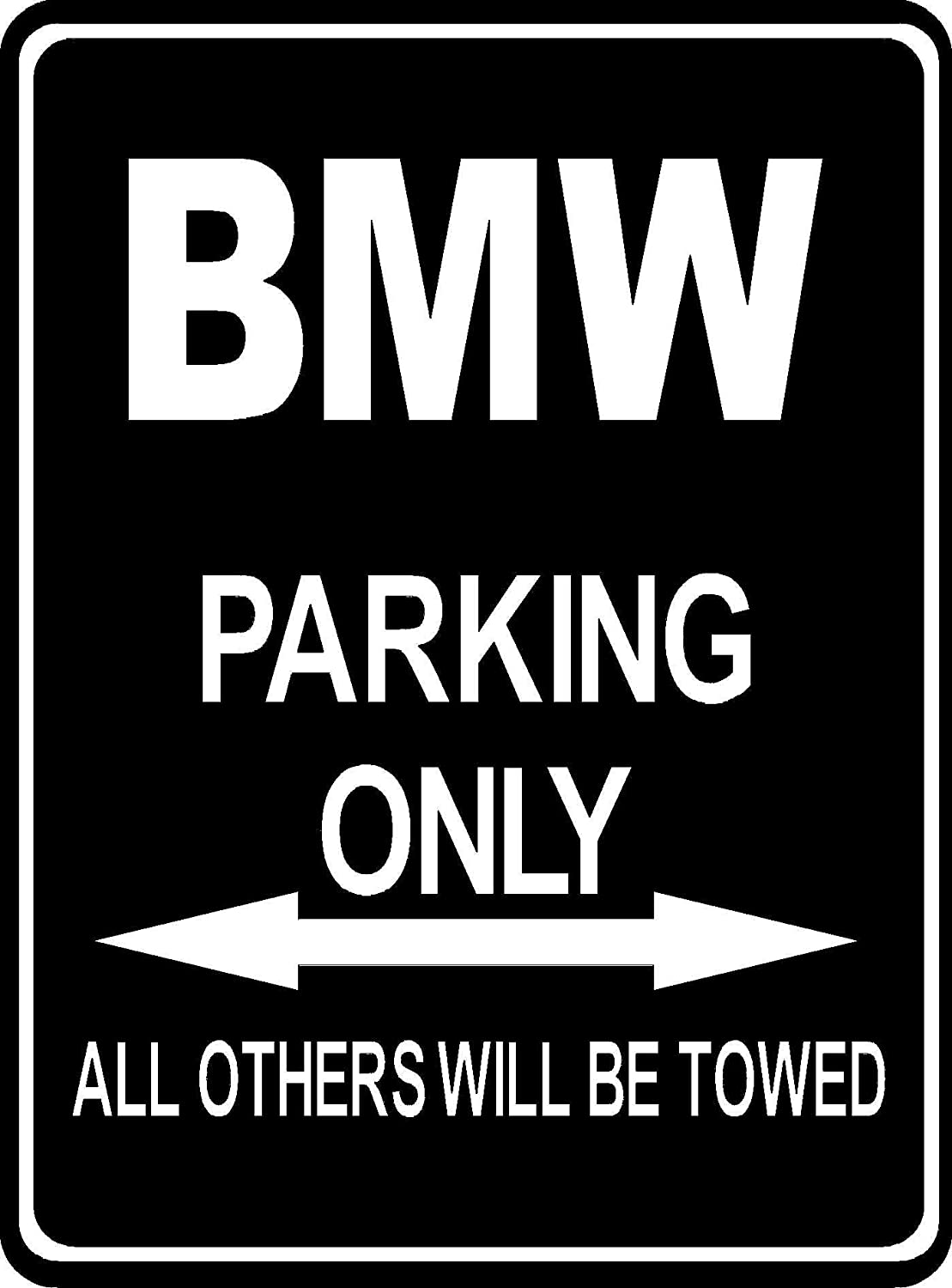 Custom Made Parksign Parking Only BMW Parking Lot Sign Amazon - Bmw parking only signs
