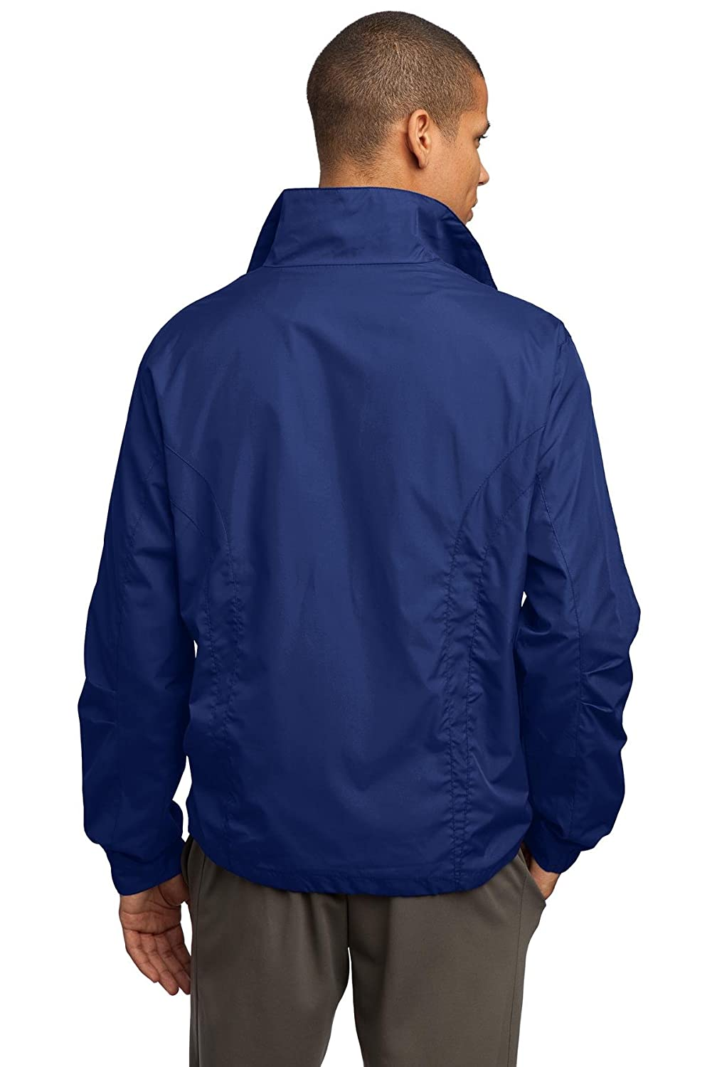 Sport-Tek Mens Full Zip Wind Jacket Full Zip Wind Jacket JST70-Men/'s