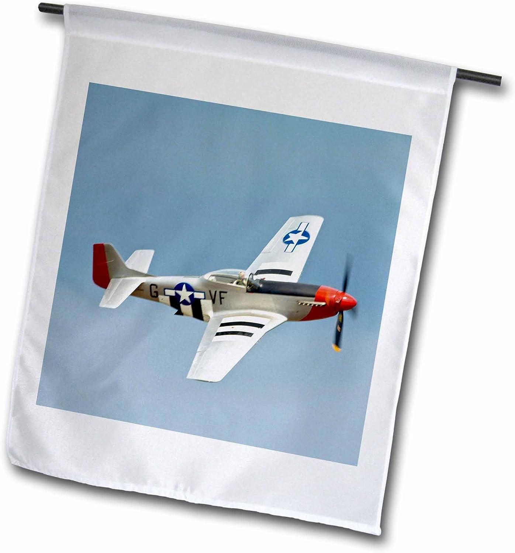 3dRose fl_97103_1 P-51D Mustang Fighter WWII War Plane-US50 BFR0014-Bernard Friel Garden Flag, 12 by 18-Inch
