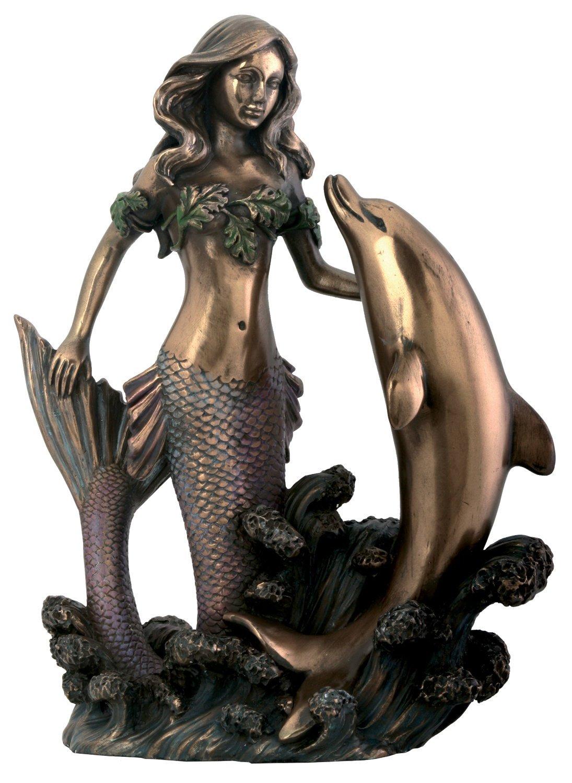 マーメイド(人魚)ウィズドルフィンⅡ アールヌーヴォー像 Mermaid With Dolphin Ⅱ B003V0SZEO