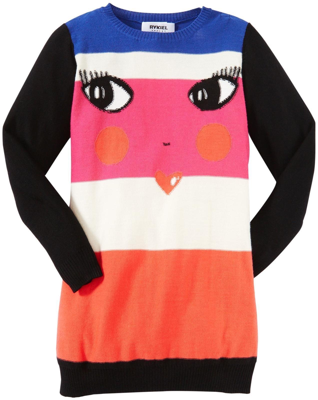 Sonia Rykiel Enfant Little Girls' Sweater Dress (Toddler/Kid) - Multicolor - 4