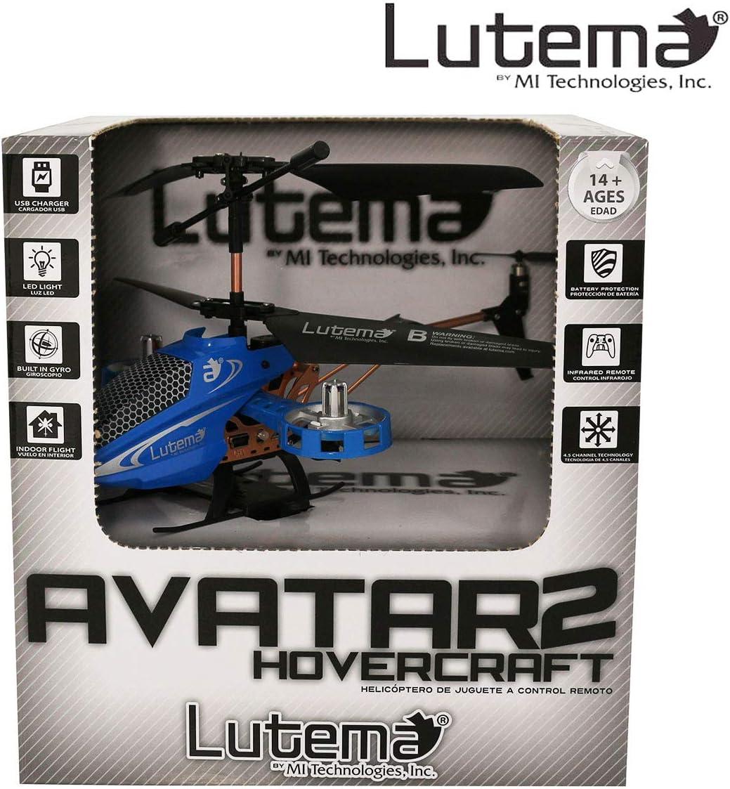 Lutema MIT5CAVHR Avatar 2 Hovercraft 4CH Remote Control Helicopter Blue