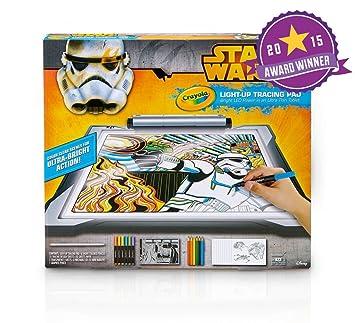 crayola star wars light up tracing pad amazon co uk toys games