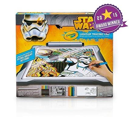 amazon com crayola star wars light up tracing pad toys games