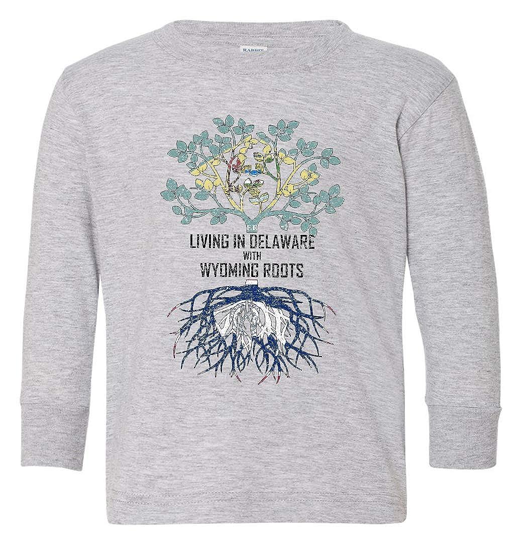 Tenacitee Babys Living in Delaware Wyoming Roots Shirt