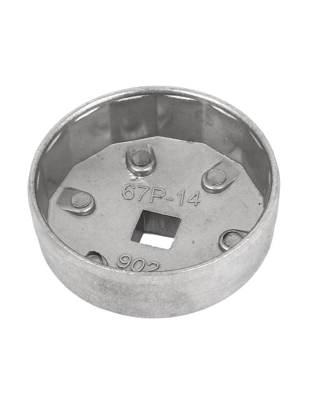 eDealMax 67mm interior Dia 14 flautas del filtro de aceite herramienta de la llave del casquillo del cartucho zócalo removedor para el coche - - Amazon.com