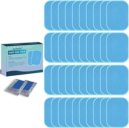 40Pcs Replacement ABS Abdominal Muscle Simulator Gel Pads Sticker Training
