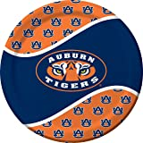 Creative Converting Auburn Tigers Dinner Paper Plates, 8-Count