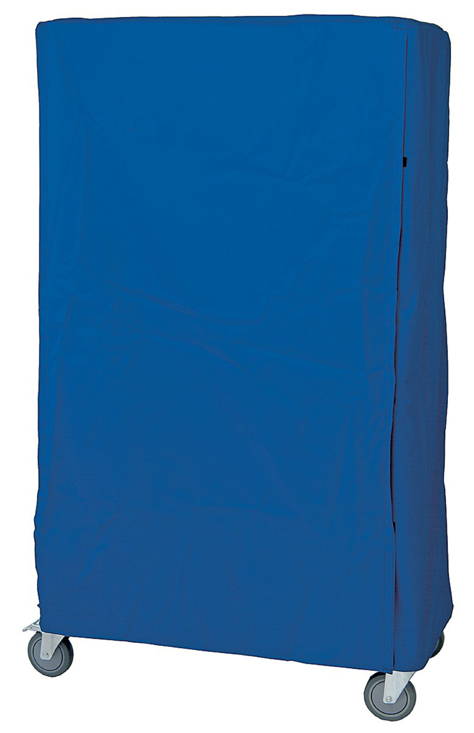 Quantum Storage Systems CC187263BNZ Wire Cart Cover with Zipper Flap, 400 Denier Nylon, Blue, 18'' Width x 72'' Length x 63'' Height