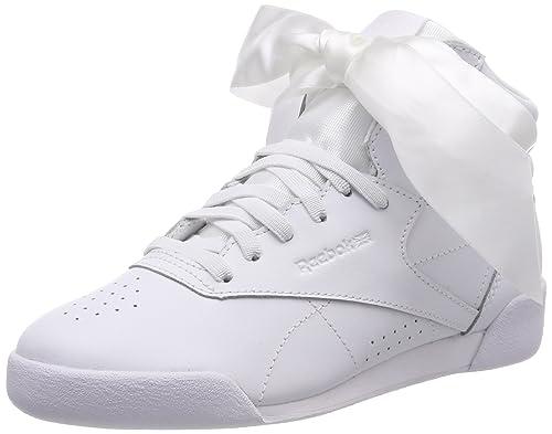 42df6444627c1 Reebok Girls   Freestyle Hi Satin Bow Top Trainers