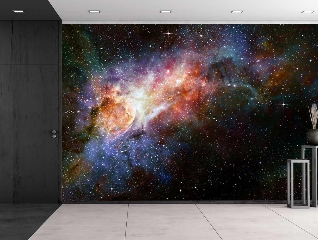 7eb487ef2a Amazon.com  wall26 -Beautiful Multicolored Galaxy - Wall Mural ...