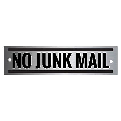 Señal de correo no deseado - acero inoxidable de metal ...