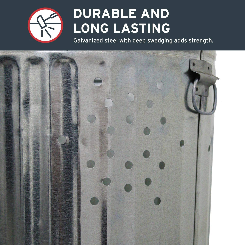 Burn Barrel Cage Metal Durable Steel Rubbish Leaf Trash Burning 20 Gallon Home