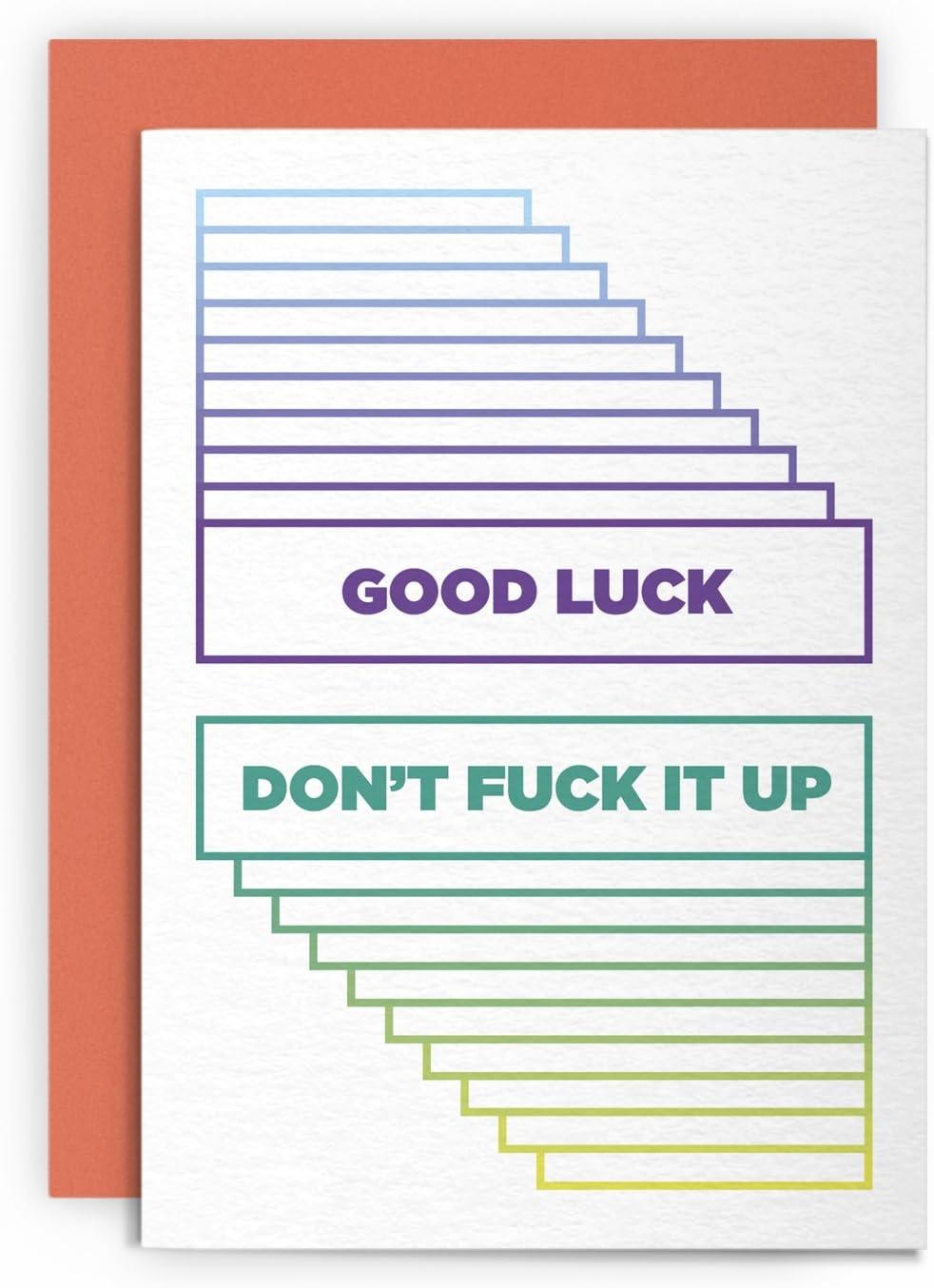Mature Card Fuck Fuck Fuck Fuck Greeting Card Adult Card Funny Card