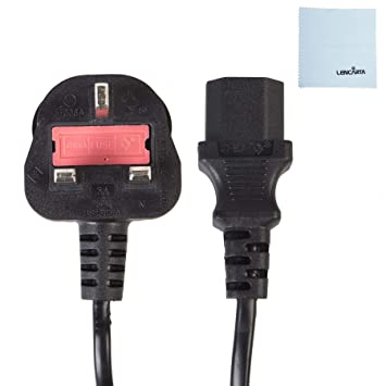 Reino Unido Kettle Lead 5m Cable de alimentación Cable PC Conector ...