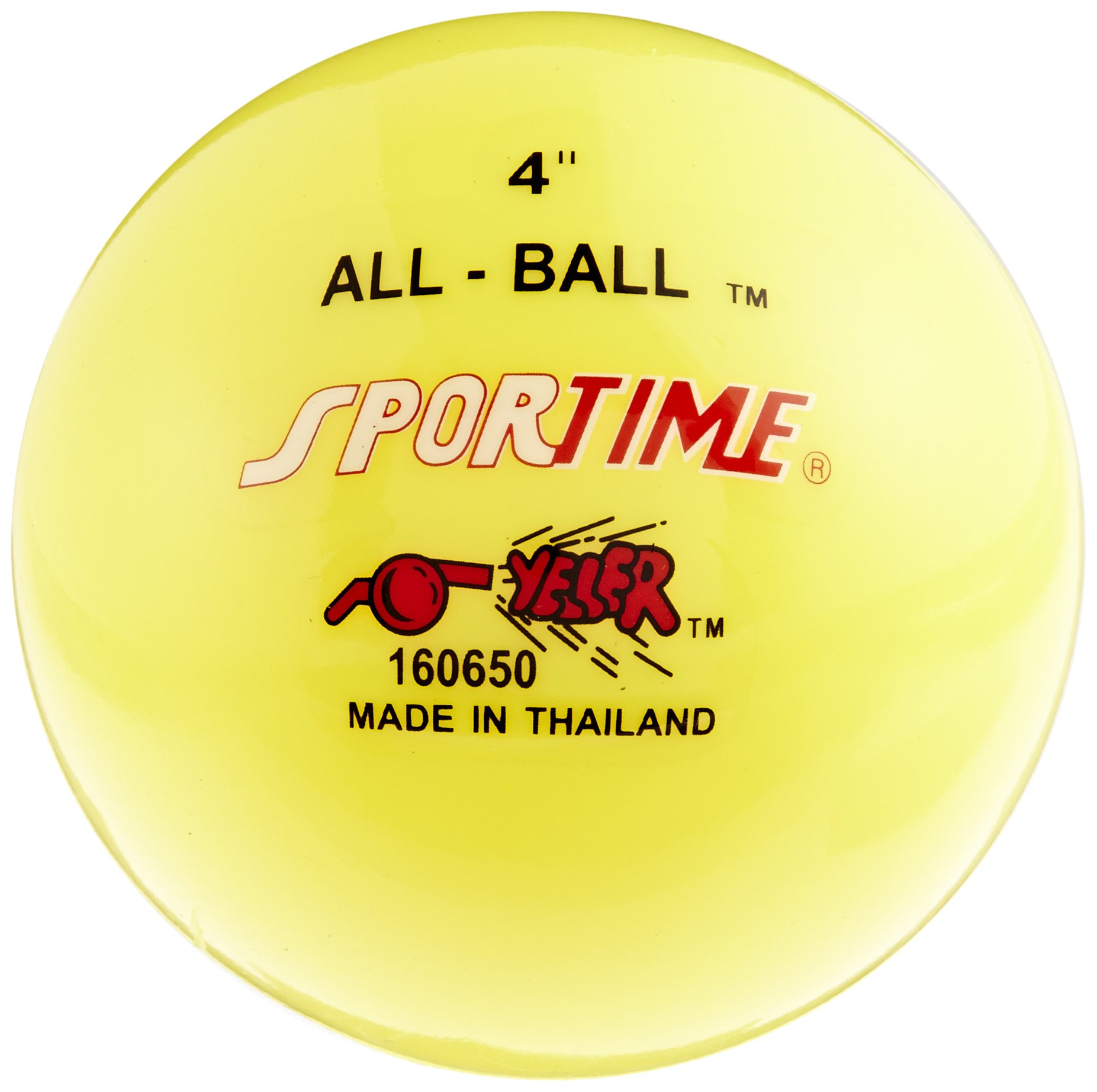 Sportime Multi-Purpose Inflatable Balls, 4 Inches, Yellow, Pack of 12