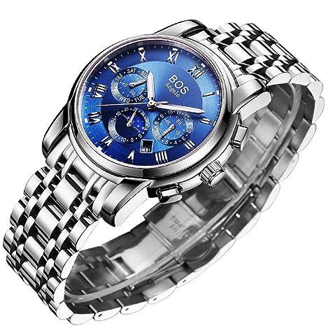 North King Multifunción de Cuarzo Relojes Fecha Pantalla Hombres Totalmente automático Reloj Bonitos Relojes para Regalo
