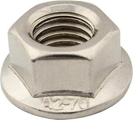 V2A Flanschmuttern mit Sperrverzahnung SC-Normteile/® 10 St/ück - DIN 6926 SC6926 - Stopmuttern // Sicherungsmuttern Edelstahl A2 - M8 - selbstsichernd