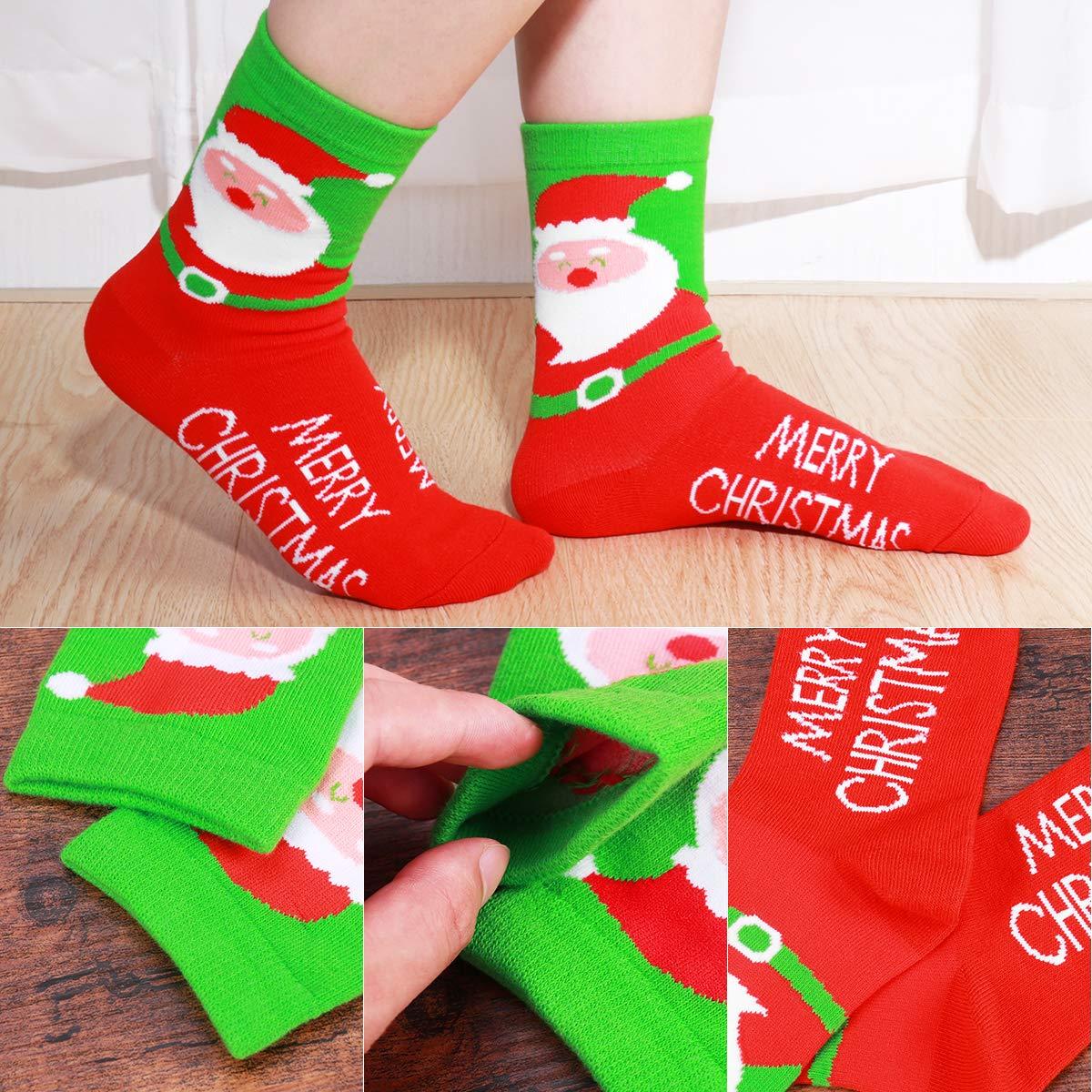 Amosfun Calcetines Casuales de Vacaciones de Navidad de Las Mujeres Patrón Lindo Calcetines de Algodón Colorido Regalos de Navidad, 5 Pares: Amazon.es: Ropa ...
