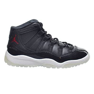 304372ee605c ... discount code for jordan 11 retro bp little kids shoes black gym red  white anthracite 378039 ...