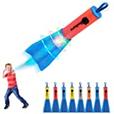 Duckura Slingshot Finger Rockets, Foam Rocket Launchers with LED Lights, Soars Up to 100 Feet, Outdoor Camping Game…