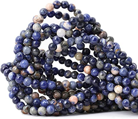 Sodalite Round Beads 8mm Blue 45 Pcs Gemstones DIY Jewellery Making Crafts