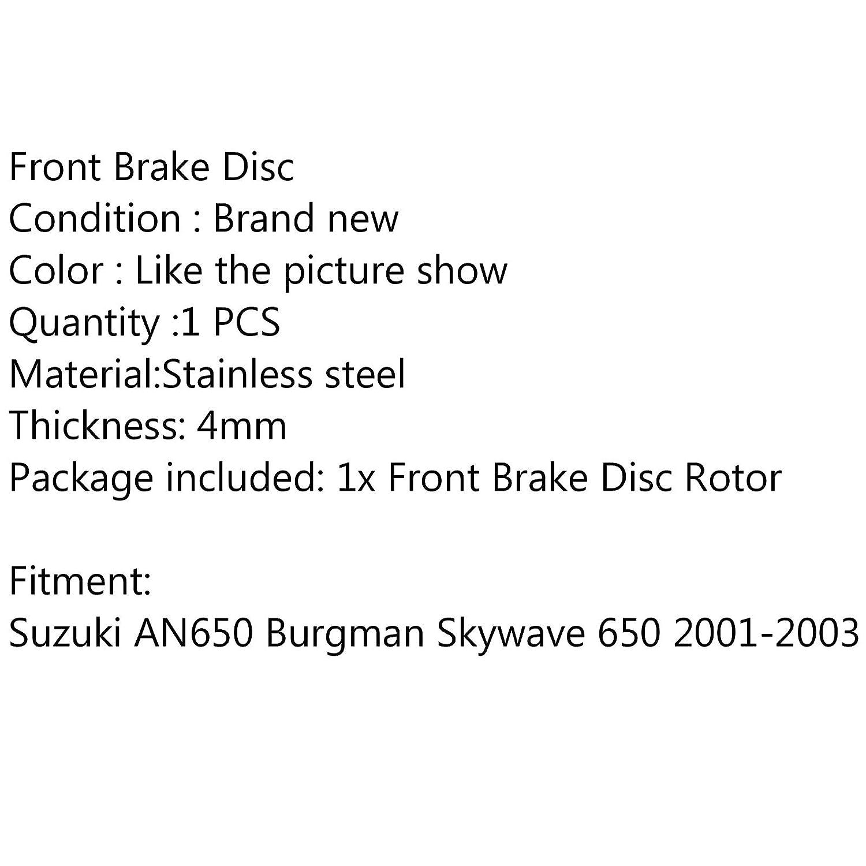 Areyourshop Rotor de disco de freno delantero para Su-zu-ki AN650 Burgman Skywave 650 2001-2003 2002