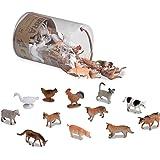 Terra By Battat an6001z juguetes de animales de granja en un tubo (60 piezas). , color/modelo surtido