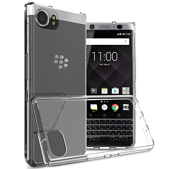 brand new e7ae8 c7ba3 BlackBerry KEYone Case, CoverON [ClearGuard Series] Hard Clear Back Cover  with Flexible TPU Bumpers Slim Fit Phone Cover Case for BlackBerry KEYone -  ...